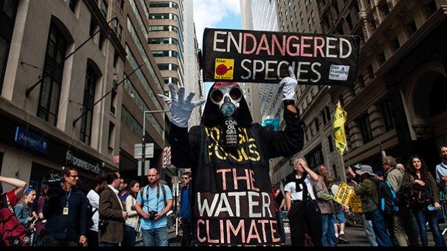 Protestan contra el calentamiento global