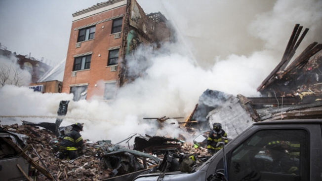 Impactante video sobre derrumbe en NY