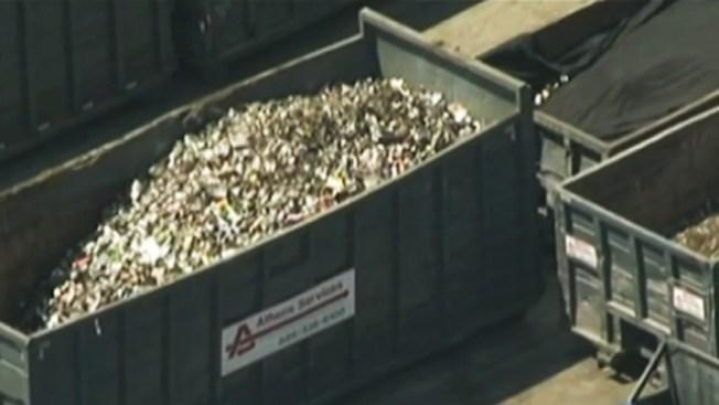 Restos humanos en planta de reciclaje