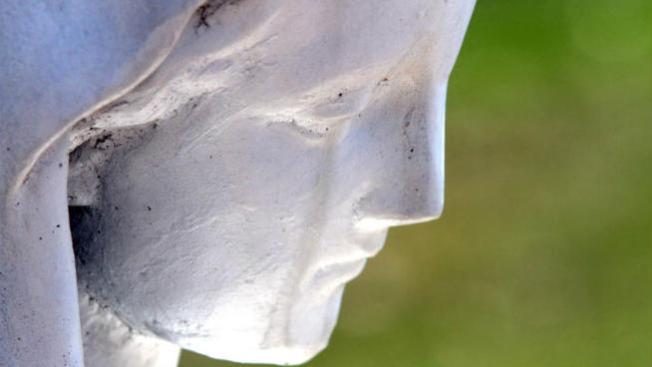 Supuesta lágrima en estatua de la Virgen