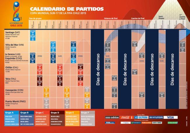 Calendario Copa.Calendario De Partidos De La Copa Mundial Sub 17 Telemundo 52