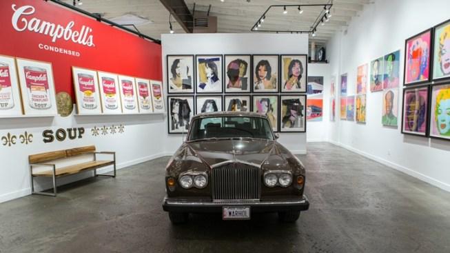 El Rolls-Royce de Andy Warhol está en exhibición