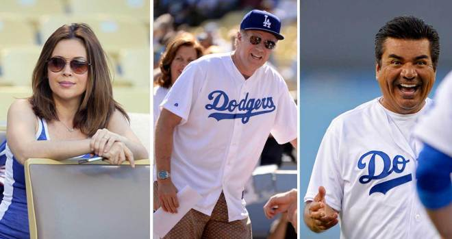 [LA GALLERY updated 10/7] Celebridades que son fanáticos de los Dodgers