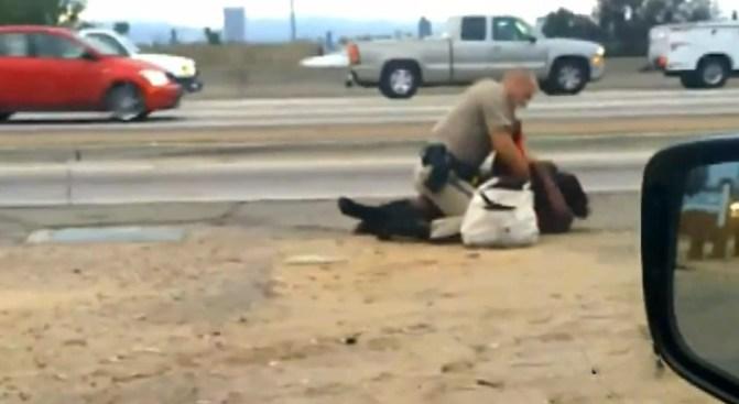 Investigan golpiza a mujer en autopista